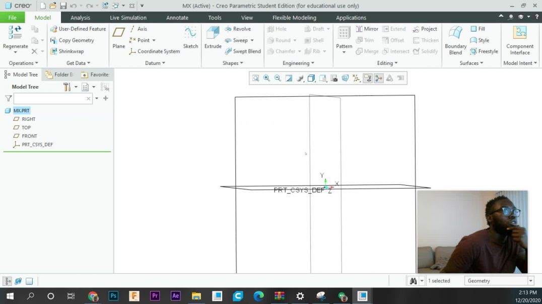 Mechanical Designing in Creo: 3 - Using the Sketch Tool