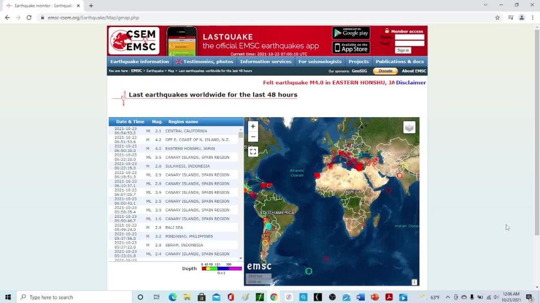 Las Palmas Island Earthquakes Has A Grid Pattern